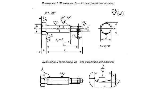 ГОСТ 7817-80 Болты с шестигранной уменьшенной головкой класса точности А