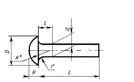 ГОСТ 10299-80 Заклепки с полукруглой головкой класса точности В и С