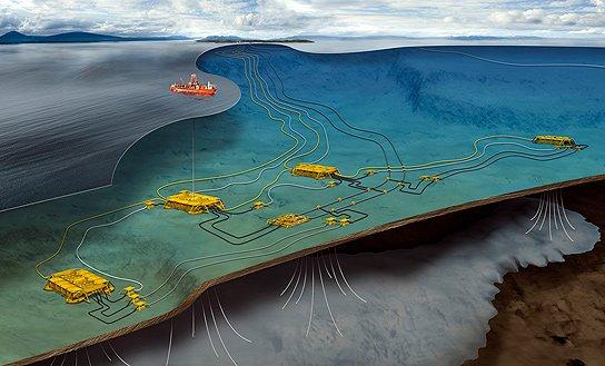 На месторождении Ormen Lange побит рекорд по установке глубоководного оборудования