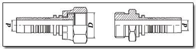 O.R.F.S. - O'Ring Face Seal (американский стандарт) фитингов и наконечников РВД