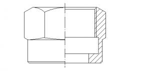 Гайка накидная под ключ S36 M33x1,5; M33x1,0