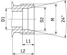 Присоединение резьбовых соединений с режущим кольцом к трубе
