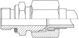 Монтаж резьбовых соединений отбортовкой согласно нормам SAE J 514 и ISO 8434-2