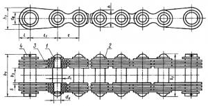 Цепи ГОСТ. Цепь грузовая пластинчатая с концевыми пластинами и концевым валиком на обоих концах отрезка цепи ГОСТ 191-82