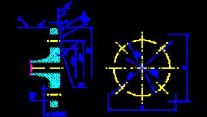 фланца с соединительным выступом чертеж