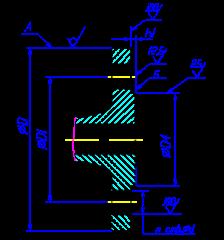 фланца с выступом чертеж