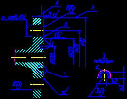 фланца под прокладку овального сечения