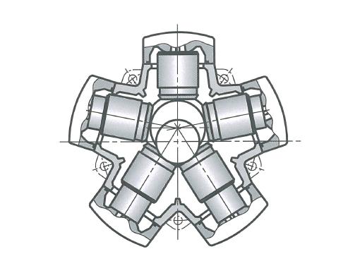 Радиально-поршневой гидромотор с внутренней опорой поршней
