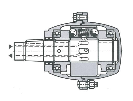 Многотактный аксиально-поршневой гидромотор с неподвижным валом