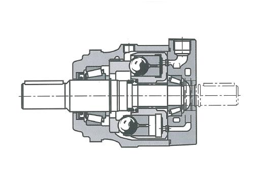 Многотактный аксиально-поршневой гидромотор с неподвижным корпусом