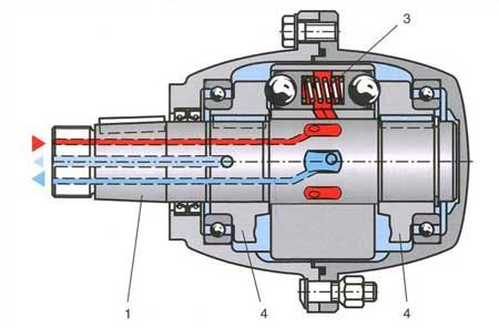Аксиально-поршневой гидромотор с вращающимся корпусом и неподвижным валом