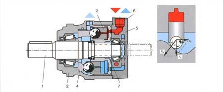 Многотактный аксиально-поршневой гидромотор с вращающимся валом