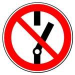 Запрещающие знаки. Не включать!