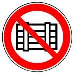 Запрещающие знаки. Запрещается загромождать проходы и (или) складировать