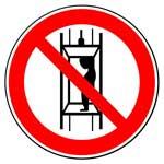 Запрещающие знаки. Запрещается подъем (спуск) людей по шахтному стволу (запрещается транспортировка пассажиров)