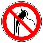 Запрещающие знаки. Запрещается работа (присутствие) людей, имеющих металлические имплантанты