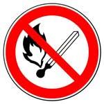 Запрещающие знаки. Запрещается пользоваться открытым огнем и курить