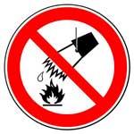Запрещающие знаки. Запрещается тушить водой