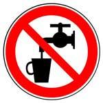 Запрещающие знаки. Запрещается использовать в качестве питьевой воды