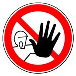 Запрещающие знаки. Доступ посторонним запрещен