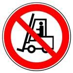 Запрещающие знаки. Запрещается движение средств напольного транспорта
