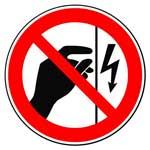 Запрещающие знаки. Запрещается прикасаться. Корпус под напряжением