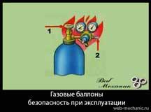 Газовые баллоны — инструкция по безопасности