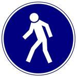 Предписывающие знаки. Проход здесь