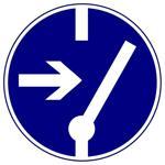 Предписывающие знаки. Отключить перед работой