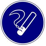 Предписывающие знаки. Курить здесь