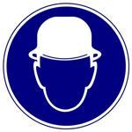 Предписывающие знаки. Работать в защитной каске (шлеме)