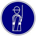 Предписывающие знаки. Работать в предохранительном (страховочном) поясе